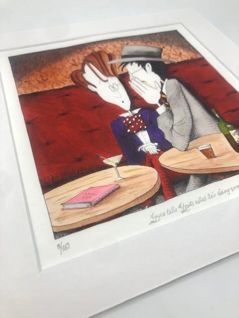 James Joyce & WB Yeats Art Print