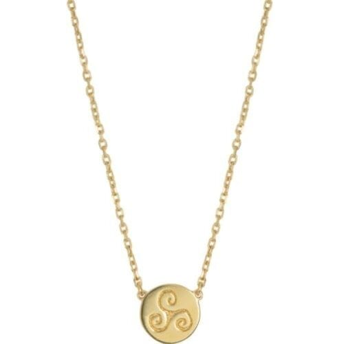 Progress Gold Celtic Necklace (Symbolising Progression, Intuition and Creativity)