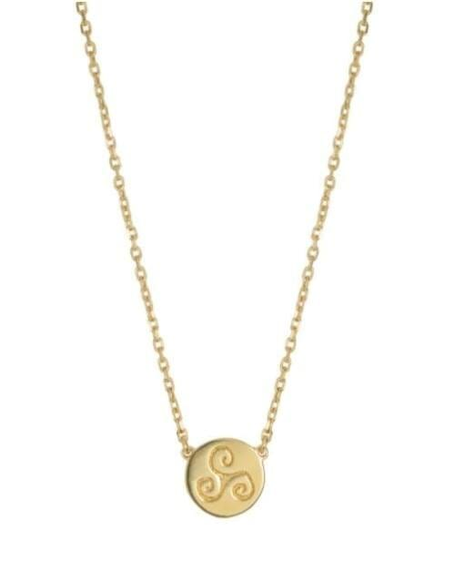 Progress Gold Celtic Necklace (Symbolising Progression, Intuition and Creativity)