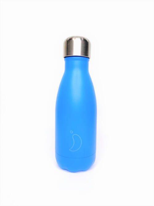 Chilly's Bottle 260ml Neon Blue
