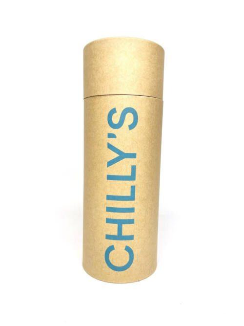Chilly's Bottle 260ml Neon Blue Box