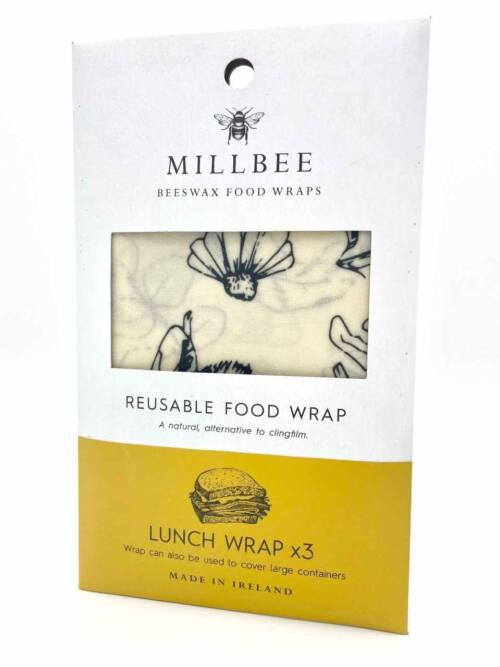 Millbee Beeswax Reusable Lunch Wraps x3