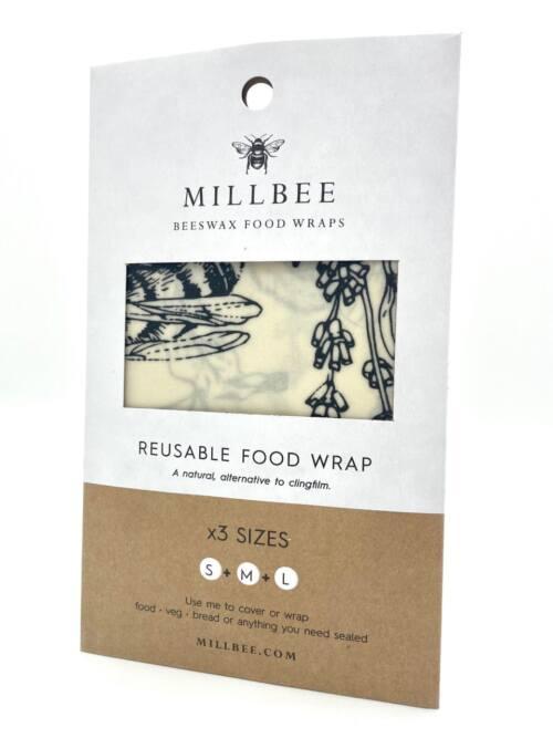 Millbee Reusable Food Wraps Variety 3 Pack