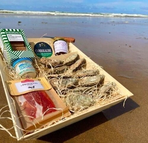 Oysters, Meat, Cheese & Crackers Picnic Box