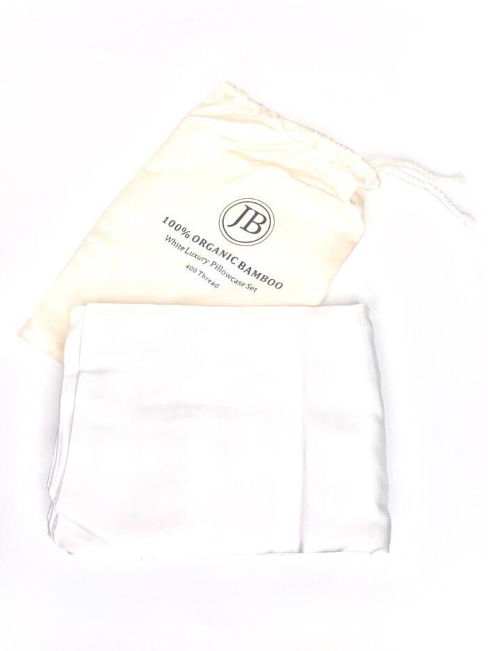 Jo Browne 100% Organic Bamboo White Luxury Pillowcase Set