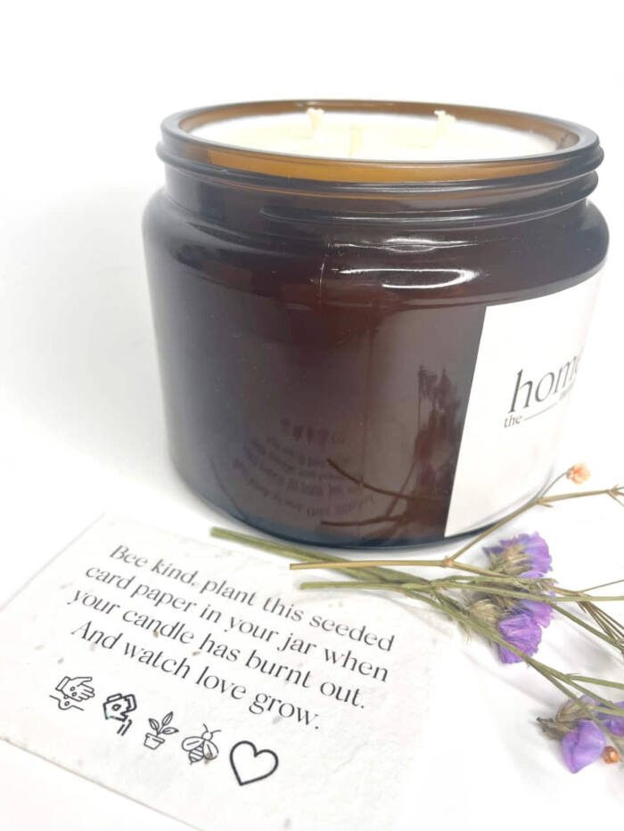 The Home Moment Artisan Soy Candle - Air Fragrance Seeded Card