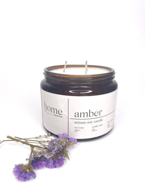 The Home Moment Artisan Soy Candle - Amber Fragrance