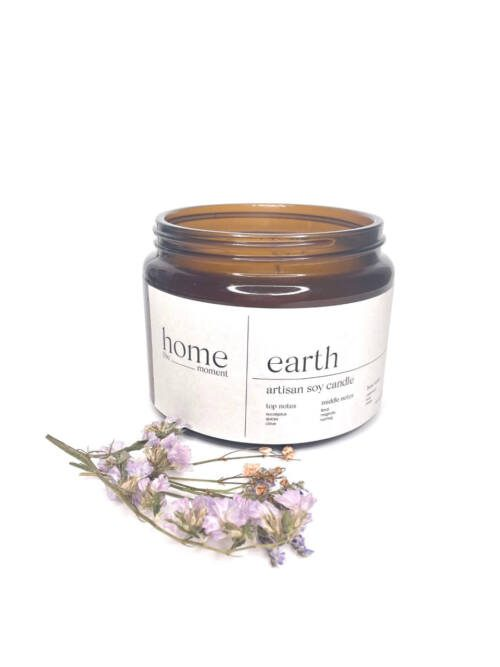 The Home Moment Artisan Soy Candle - Earth Fragrance
