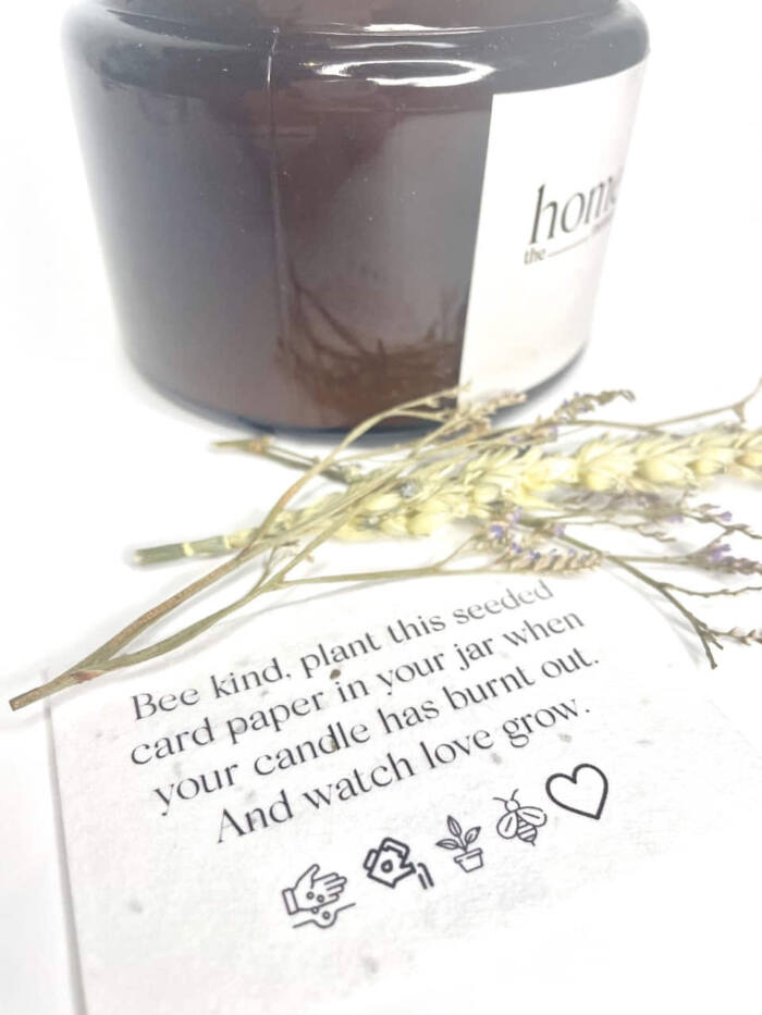 The Home Moment Artisan Soy Candle - Turf Fragrance Seeded Card