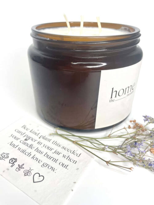 The Home Moment Artisan Soy Candle - Water Fragrance Seeded Card